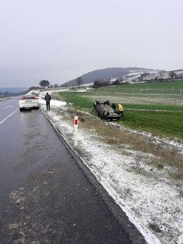 Tekirdağ'da Otomobil Takla Attı: 1 Yaralı