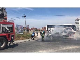 Photo of Kapaklı'da seyir halindeki araç yandı.