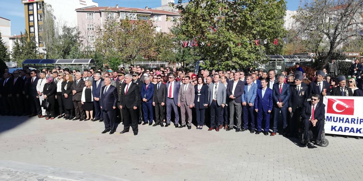 Photo of Cumhuriyet Bayramı kutlamaları çelenk sunma ile başladı.