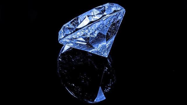 Zor görülen mavi elmas bulundu