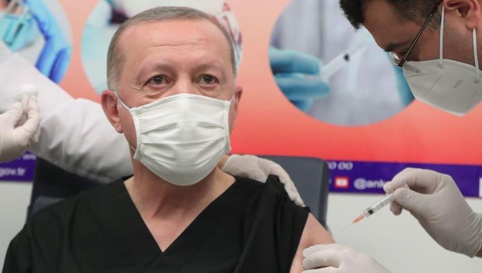 erdoğan aşı oldu