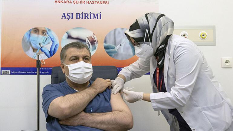 fahrettin koca koronavirüs aşısı