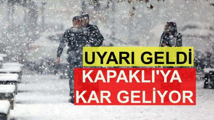 kar uyarısı